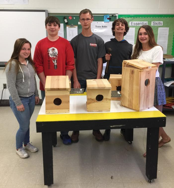 Crestwood Students Kestrel Boxes