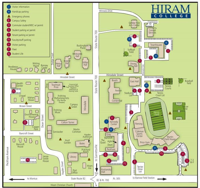 Hiram College Campus Map