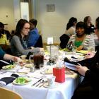 Photos: Students Practice Networking, Business Skills at Etiquette Dinner;