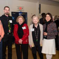 President Varlotta with a group at President's night